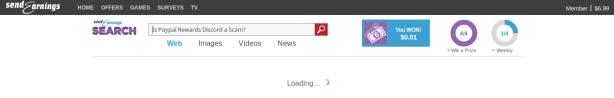 SendEarnings search screenshot